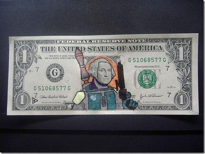 Класні малюнки на грошах (30 фото)