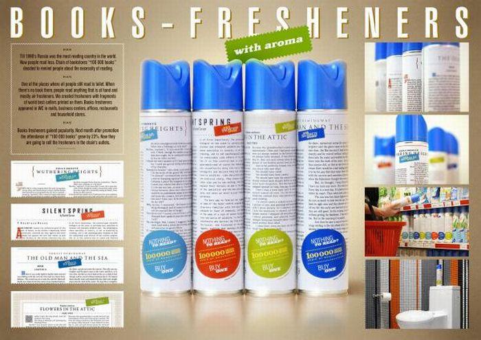 Книги на освіжувач повітря (8 фото)