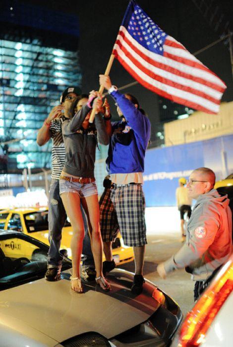 Америка святкує смерть Осами бін Ладена (40 фото)