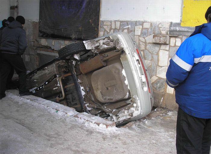 Вчорашня аварія в Москві на Садовому (5 фото)