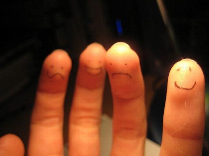 Класний креатив з пальцями (76 фото)