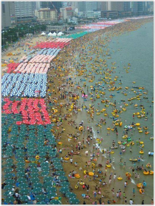Пляж в Південній Кореї (12 фото)