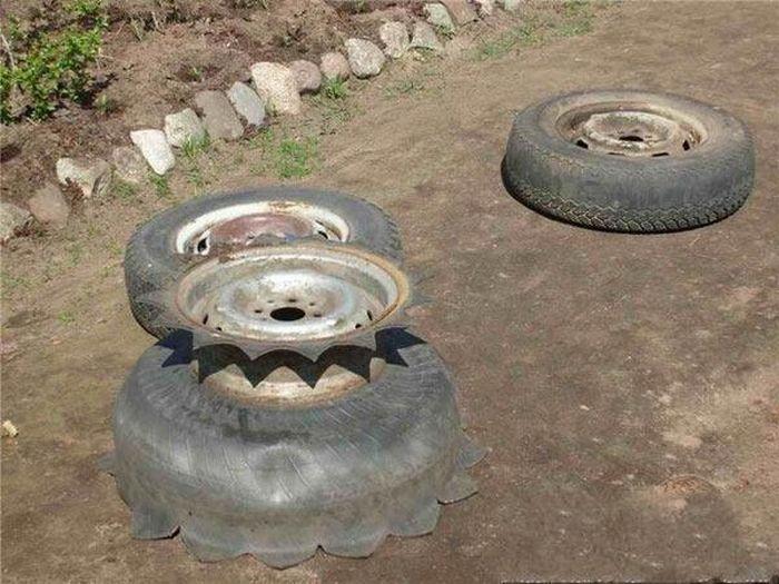 Друга життя для автомобільних шин (15 фото)