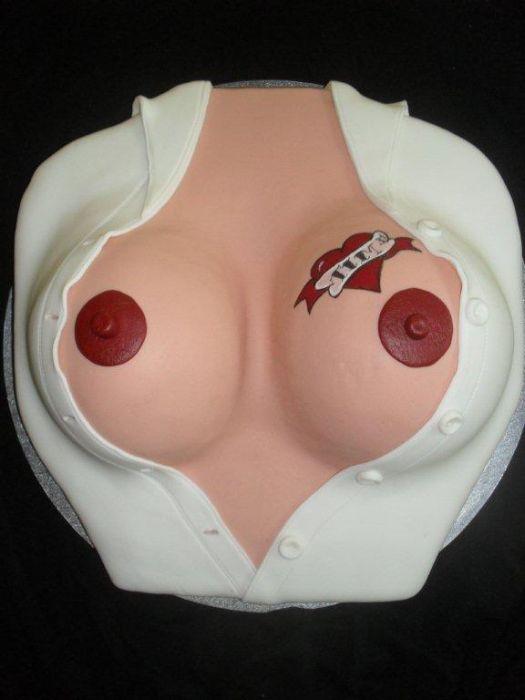 Класні тортики у вигляді жіночих грудей (73 фото) НЮ!