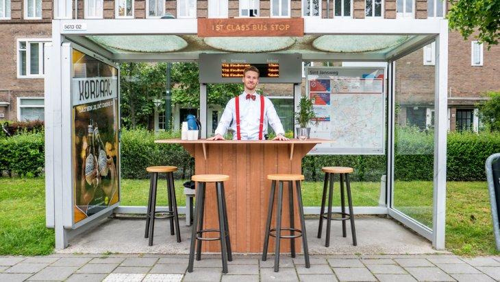 Бесплатная кофейня из автобусной остановки Интересное