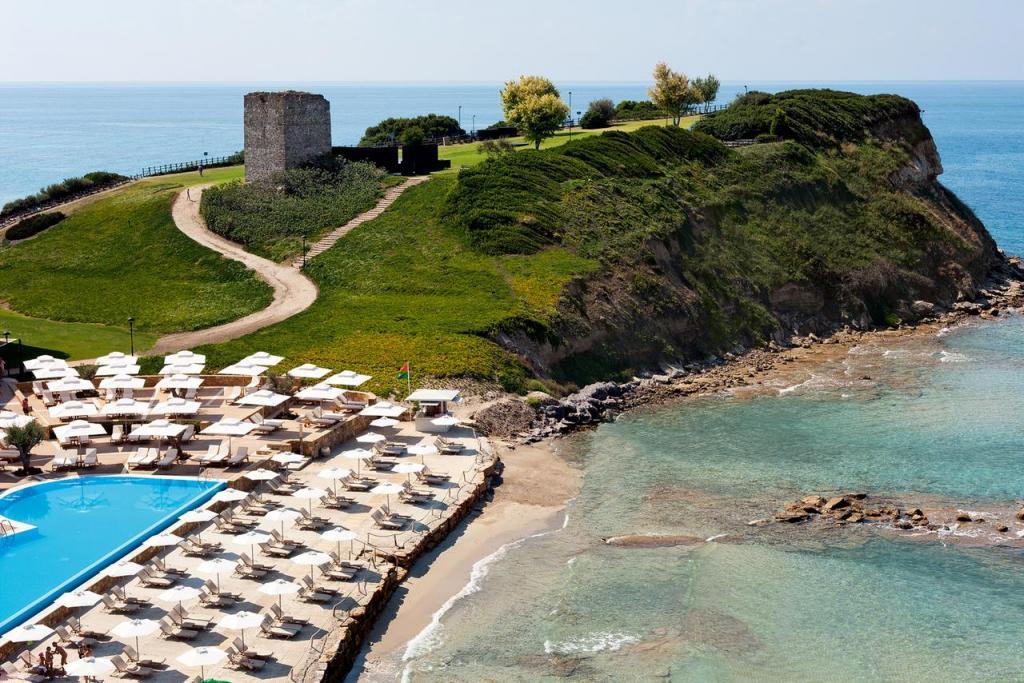 Sani Beach 5* : описание номеров, сервис, отзывы путешествия, путешествие и отдых