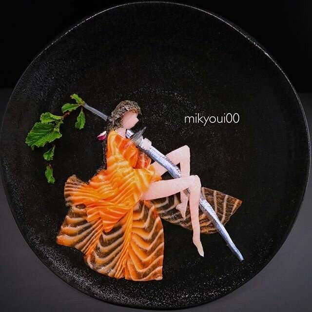 Слишком красиво, чтобы есть: Художник создаёт настоящие произведения искусства из сашими Интересное