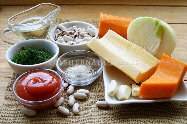 Фасоль тушеная с овощами еда,пища,рецепты, кулинария