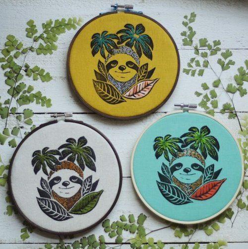 Ручная вышивка от художницы Юлии Шербак рукоделие