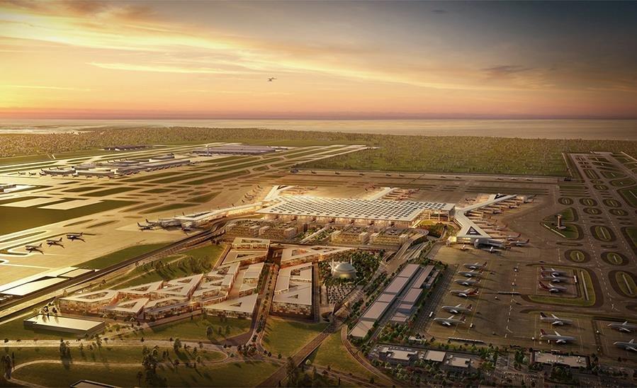 В Турции строят самый большой аэропорт в мире, с пропускной способностью 200 млн. пассажиров в год архитектура, Архитектура